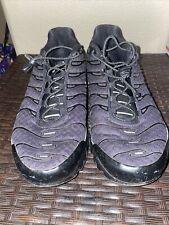 Used Mens Nike Air Max Plus TN Sz 12 Triple Black Running Shoes