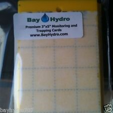 "3"" X 5"" Yellow Sticky Insect Traps, Thrips, Whiteflys, Aphids, Gnats & More"