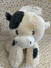 """KellyToy Kelly Baby Cow Plush Soft Stuffed Sitting 11"""" with Rattle NEW with tags"""