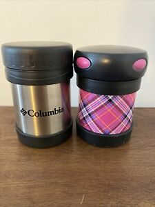 Soup Thermos Set Of 2 Silver Black Pink New Never Used
