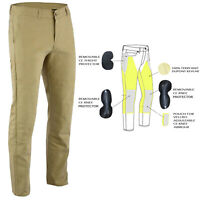 Mcycle Chino Style Jeans Lined with DuPont™ KEVLAR®  TAN removable CE Armour