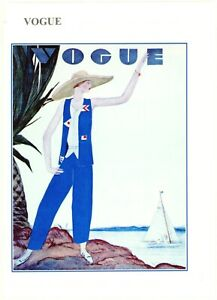 1929 Vogue. Nostalgic greeting card. hand made. blank inside for many occasions