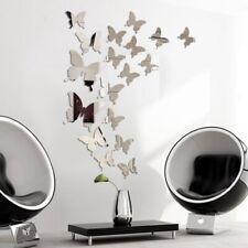 12pcs Mirror Wall Sticker Decal Butterflies 3D Mirror Wall Art Party Home Decor*