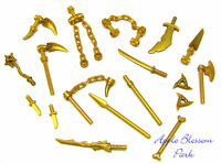 NEW Lego Ninjago Ninja Minifig GOLD WEAPON SET w/Golden Dragon Minifigure Sword