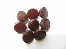 1950s Vintage Sm Unisex Dk Brown Genuine Leather Coat Jacket Shirt Buttons-16mm