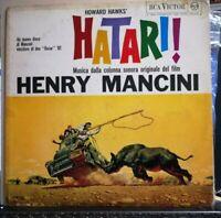 HOWARD HAWKS' - HATARI ! O.S.T. HENRY MANCINI - 33 GIRI VILE LP USATO