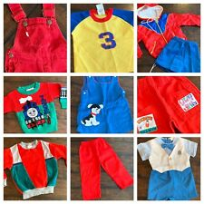Vtg Lot Clothes Boys 18 24 Mo 2T 70s 80s 90s Levi's Overalls Thomas Tops Shorts