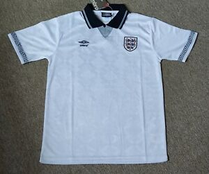 1990 World Cup England Home Retro Shirt Size Medium Mens. Brand new with tags
