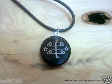 """Baha'i jewelry- obsidian stone necklace """"ring stone"""" Bahai gift from Haifa"""