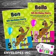 Personalised Birthday Invitations Scooby Doo x 5