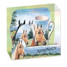 COUNTRYSIDE COLLECTION SPRING MEADOW HORSES TEA TIME GIFT SET BOXED NEW