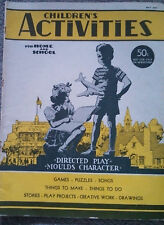 Children's Activities Periodical Illustr May 1947 Game Puzzle Project Draw Story