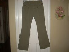 For All Mankind 7 Olive Green Jeans Ladies Waist Size 26 Flare