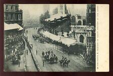 Royalty EDWARD VII Coronation Arrival at Abbey Tuck u/b PPC