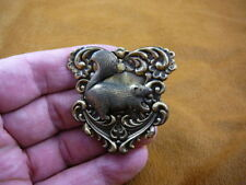 (b-squir-53) fat Squirrel little squirrels babies forest skunk brass pin pendant