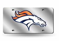 Denver Broncos NFL Football Mirror License Plate - Auto Tag - Vanity Plate