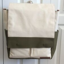 New Petunia Pickle Bottom Pathway Pack Natural Canvas Olive Diaper Bag MSRP $159