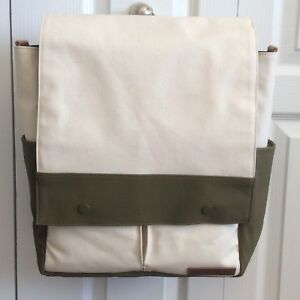 New Petunia Pickle Bottom Pathway Pack Natural Canvas Olive Diaper Bag