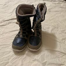 Khombu womans winter boots 8 blue grey