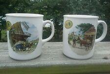 Royal Schwabap set of 2 mugs 1984 farm Country scene Cups Horses Barns Iowa
