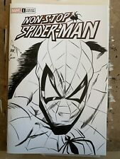 Spider-Man sketch cover, Non-Stop Spider-Man 1 blank variant, CGC Option*