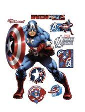 Original FATHEAD Marvel Avengers Assemble Captain America Lge Decal 96-96085 NEW