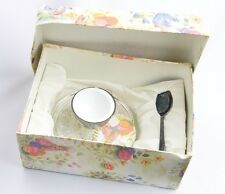 Sheffield-VINTAGE Silver Plated Egg Cup & Spoon in Box Christening Set- NEW!
