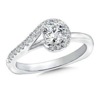 1.50Ct Round Diamond Solitaire Ring 14K Solid White Gold Wedding Ring Size 7 6.5