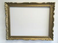 """VTG. MID-CENTURY Wide Carved Wood Chunky Picture FRAME Fits 25 1/2""""x 33 1/2"""""""