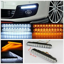Un Set DC12V 30LED de doble color coche Niebla Luz Diurna Lámparas Drl & Montaje