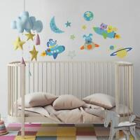 51 New ROCKET DOG WALL DECALS Baby Nursery Outer Space Rocketship Stickers Decor