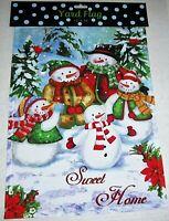 "CHRISTMAS DECORATIVE YARD FLAG 12""x 18""  SWEET HOME"