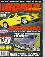 JUNE 1994 MOPAR ACTION MAGAZINE DODGE VENOM, 1966 HEMI CHARGER, DODGE NEON /q7