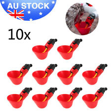 10x Automatic Bird Coop Poultry Fowl Drinker Drinking Cups Chicken Water Feeder