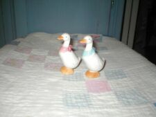 Vintage duck goose geese salt and pepper shakers with stoppers