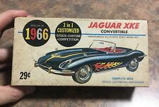 "Vintage 1966 Jaguar XKE Convertible Model Kit ""Box & Instructions Only"" No Model"