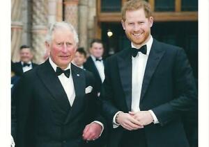 Postcard of Prince Harry & Prince Charles, Prince of Wales