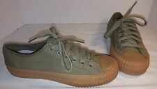 NEW PF FLYERS MOSS GREEN CENTER LO MONO SNEAKERS WOMEN'S 8 MENS 6.5