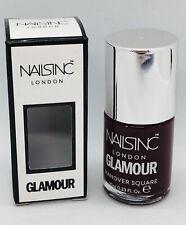 Nails Inc Nail Polish Varnish in Hanover Square Plum Burgundy Size 10ml BNIB
