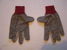 12 Pairs Cotton Work Gloves With Anti-Slip Rubber Coating Medium/Large