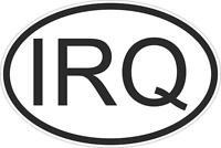 Autocollant sticker drapeau oval code pays voiture moto irak irakien irq