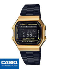 CASIO A168WEGB-1BEF*A168WEGB-1B*ORIGINAL*REGISTERED AIRMAIL*GOLD&BLACK*RETRO