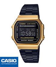 CASIO A168WEGB-1BEF*A168WEGB-1B*ORIGINAL*FREE SHIPPING*VINTAGE*GOLD&BLACK*RETRO