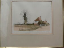 """Smarden"" Kent limited edition coloured etching"