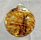 "Hanging Glass Ball 4"" Diameter Caramel Brown Witch Ball (1) GB8"