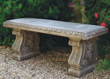 Straight Bench with Classic Feet - Garden Bench - Stone Bench