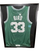 Larry Bird Signed Autograph Jersey In Framed Case Authenticated