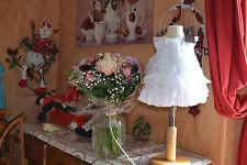 robe neuve catimini 3 mois doublee bapteme chasuble spirit couture blanc