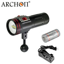 Archon D34VR W40VR Diving Underwater Video LED Flashlight 2600LM+Battery+Charger