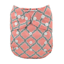 ALVA Reusable Washable One Size Baby Cloth Diaper Printed Nappy for Girl+1Insert